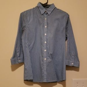 Land's End 3/4 Sleeve Dress Shirt
